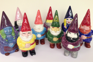 Paint Your Own Pottery Gnome Night at the Workspace