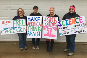 Women's March Sign Making