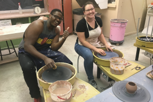 Wheel Pottery Class at The Workspace