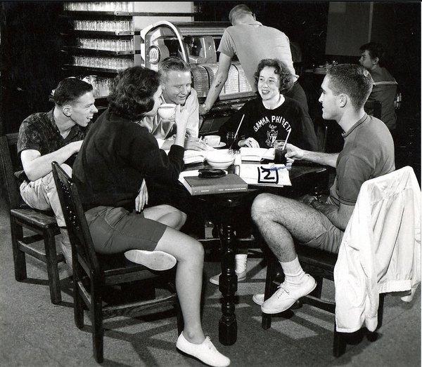 1946 - 1951: For roughly 15 years, the Memorial Union provided housing for students when the Department of Residence exceeded capacity.